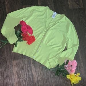 🌺George Lime Green Short Cardigan Long Sleeves🌹